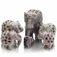 Набор из 6 слонов (мыльный камень)