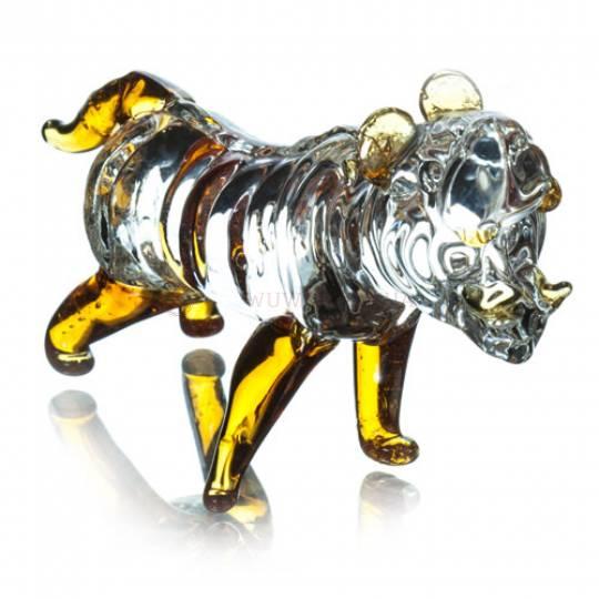 Тигр стеклянный, 9 см