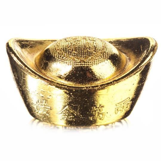 Денежный слиток «Лодочка» под золото (маленький)