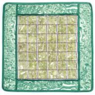 Коврик с нефритовыми квадратными камнями
