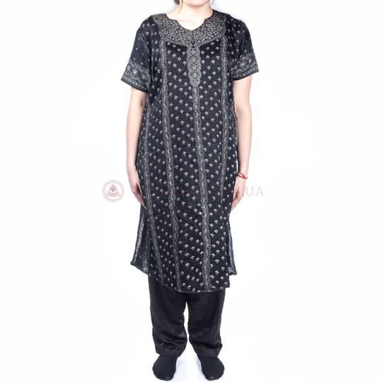 Комплект панджаби ( длинный халат с коротким рукавом и штаны)