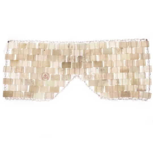 Очки с прямоугольными вставками из нефрита