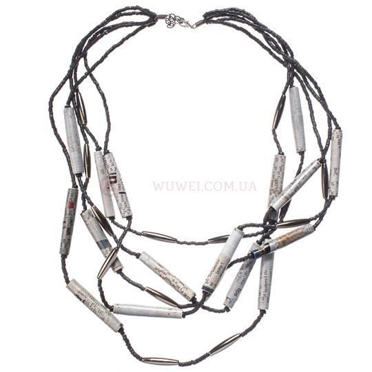 Ожерелье «Газетка», ручная работа