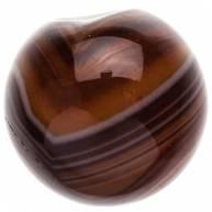 Бусина из Африканского агата коричневый 14 мм