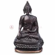 Будда на троне (бронза, черный)