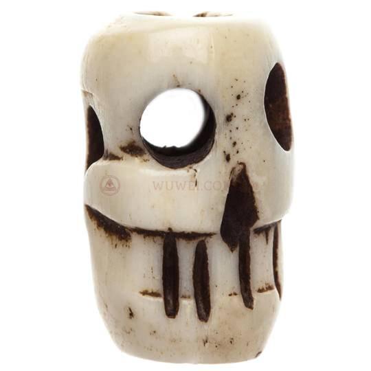 Бусина из кости в форме черепа 10 мм