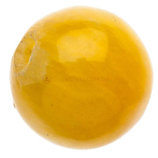 Бусина желтая пресованный камень 7 мм
