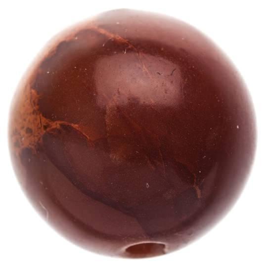 Бусина из Яшма, коричневая 9 мм