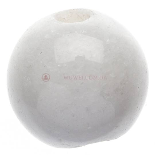 Бусина из прессованного белого камня 8 мм