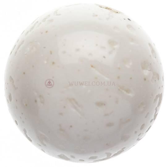 Бусина из прессованного белого камня 10 мм