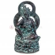 Гуань Инь на лотосе (бронза, зеленая)