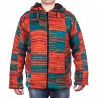 Куртка с капюшоном на молнии, шерсть