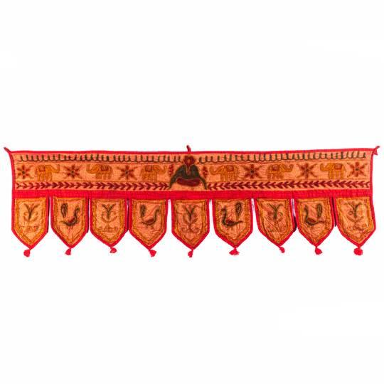 Ламбрикен тканевый цветной на вход, Индия
