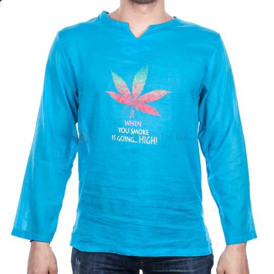 Рубашка тайская, мужская, длинный рукав