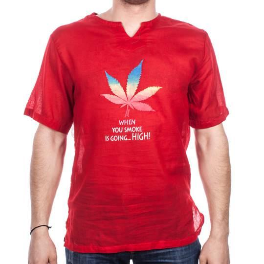 Рубашка тайская, мужская, короткий рукав