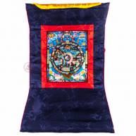 Тханка «Колесо Дхармы» рисованная, храмовая 42*58 см, размер рисунка 18 *23 см