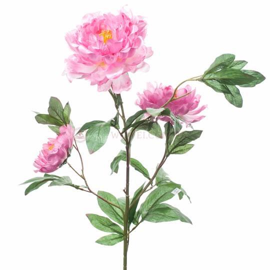 Цветок искусственный  пион и лотос, высокий