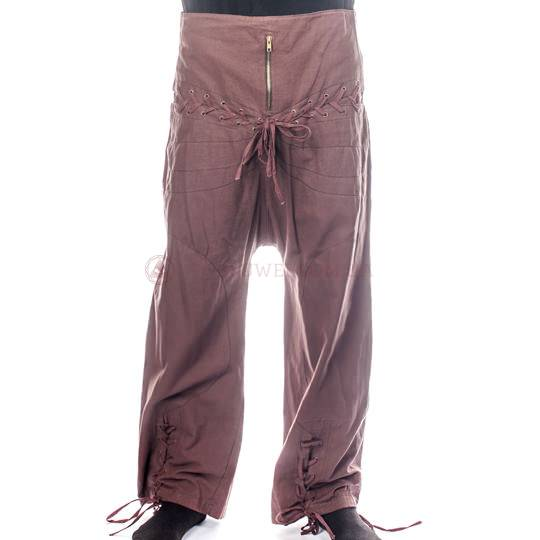 Штаны со шнуровкой и молнией, мужские