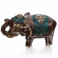Слон в зеленой попоне (бронза)