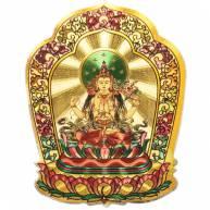 Наклейка золотистого цвета с божеством