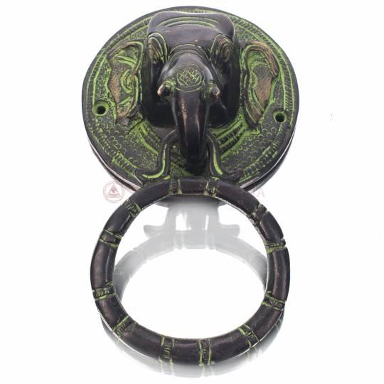 """Дверная ручка """"Голова слона"""" (бронза)"""