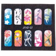 Трафарет для рисунков на ногтях