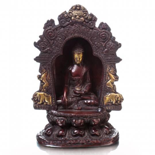 Алтарь Будды темная бронза