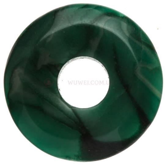 Бусина-подвеска с отверстием из камня 2,2 см