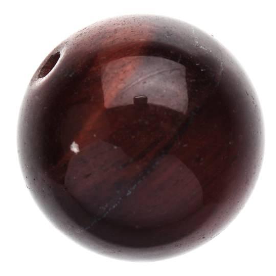 Бусинка из камня Бычий глаз 13 мм
