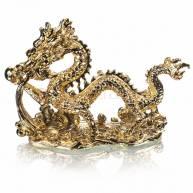 Дракон водный с жемчуженой, полимер под золото