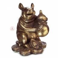 Мышь на монетах с тыквой Ху Лу