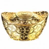 Денежный слиток «Лодочка» под золото (большой с рельефом монет)
