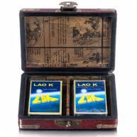 Карты для покера в шкатулке