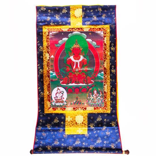 Тханка «Будда Амитаюс» 85 х 127 см