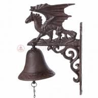 Чугунный дверной колокольчик  «Дракон»