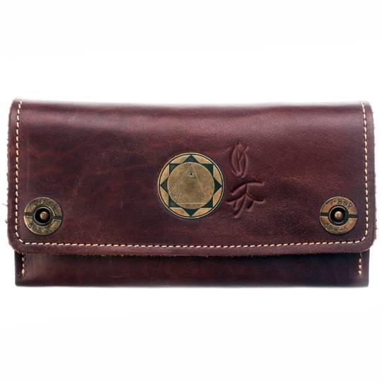 Кожаный кошелек-клатч У-Вэй