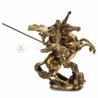 Китайский воин Куан Кун на коне, 15*11 см