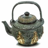 Чайник бронзовый в окружении старцев, 11*12 см