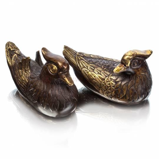Утки-мандаринки (пара), 11*7 см