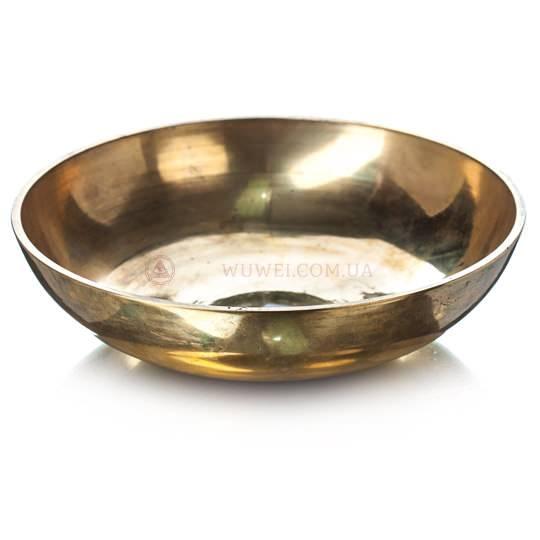 Поющая чаша желтая (тарелка)