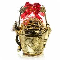 Ваза богатства под золото пластик большая