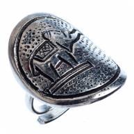 Кольцо белый метал шайба Слон