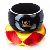 Поющая чаша черного цвета эмалированная