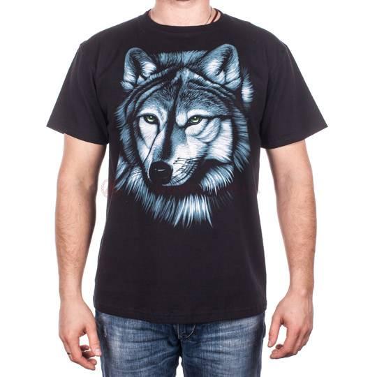Футболка с рисунком животного (тигр, волк, пантера)