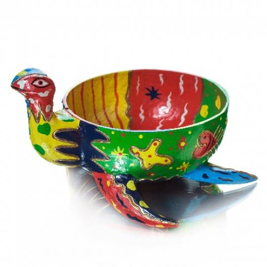 Декоративная чаша «Черепаха», деревянная