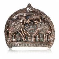 Панно металлическое «Слоны», силумин