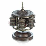 Тибетские молитвенные барабаны, 6 шт. бронза