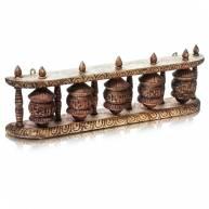 Тибетские молитвенные барабаны, 5 шт. дерево