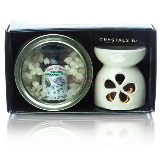 Набор кристалл, аромалампа, масло